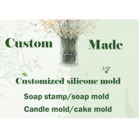 China Custom Made Silicone Soap Mould DIY Soap Stamp , Candle Mold Fondant Cake Molds wholesale