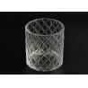 China Pillar Cut Glass Candle Holders Decorative Glassware Customizable wholesale