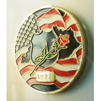 China Personalize American Flag Challenge Coins , Metal Military Commemorative Coins wholesale