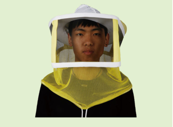 Quality Beekeeping Protective Clothing White Square Bee Veil Breathable With Round Type Bee Hat   For Beekeepers for sale
