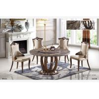 China 6 seater round marble dining table with lazy Susan wholesale