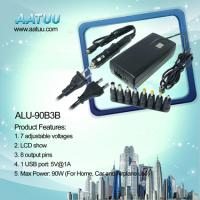 China 90W 3 in 1 Universal Laptop Adapter For Home Car and Airplane Use -ALU-90B3B wholesale