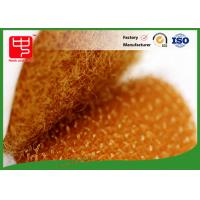 China Orange colour die cutting hook and loop hook and loop dots with adhesive backing wholesale