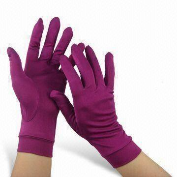 Quality Silk Gloves with Moisture Absorption and Perspiration Features, Measures S/M/L for sale