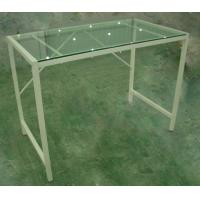 China Modern Glass Computer Desk White Steel Frame For Home DRGSZ-01 wholesale
