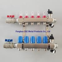 China stainless steel radiant water heating manifolds for central heating system, floor heating manifold wholesale
