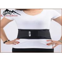 China Self Heating Magnetic Lumbar Support Belt Detachable Steel Plate Black Color wholesale