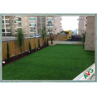China PE + PP Material House Outdoor Artificial Grass Field Green / Apple Green Color wholesale