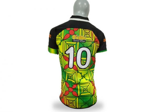 Quality Breathable World Cup Rugby Clothing , Casual Rugby Shirts Sublimated Printing for sale