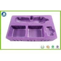 China Beautiful Hairy Purple Flocking Tray PS Flocking 0.8mm For Beauty Instrument wholesale