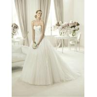 China Modern Strapless Ball Gown Sweetheart Lace Wedding Dress for Summer , Spring wholesale