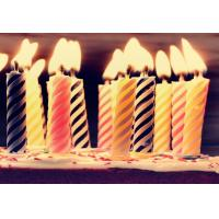 China Decorative Spiral Birthday Candles , Funny Smelless Twisted Birthday Candles wholesale