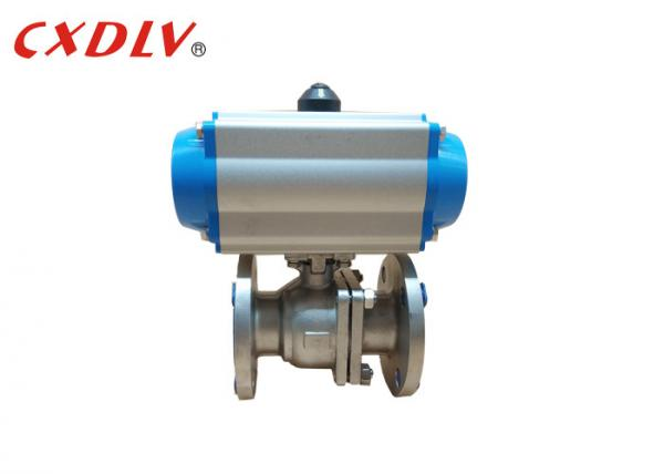 Quality SS316 2PC Full Port Air Pneumatic Actuated Ball Valve Q641F JIS10K 50A for sale