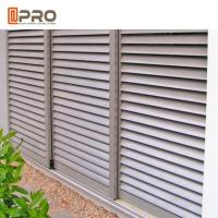 China Customized Aluminum Louver Window For Ventilation Adjustable Blinds And Sun Control on sale