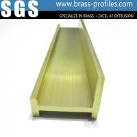 China Rustproof Copper Extruding Profiles Brass Top Window Frame on sale