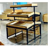 China 3 Tiers Collapsible Metal Fruit Wooden Display Rack For Retail Shop wholesale