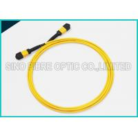Buy cheap 40Gbps 3.0mm 12 Array MPO to MPO Singlemode SMF-28e Fibre Optical Riser Rated Patch Cable from wholesalers