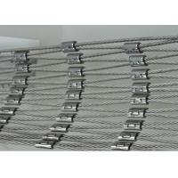 China High Strength Stainless Steel Cable Net , Wire Rope Mesh Netting For Children'S Activity wholesale