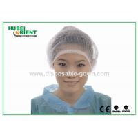 China Disposable Head Cap Surgical Mob Cap for Hospital / Health Center wholesale