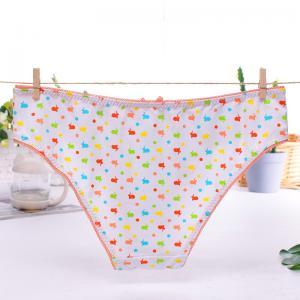China Sanding milk fiber printing young girls thong underwear on sale