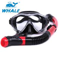 China Dry Top Diving Snorkel Set , Swim Mask And Snorkel Set For Water Sports Equipment wholesale