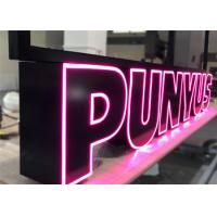 China Custom Led Channel Letters , Front Lit Illuminated Signage Letters For Business Store wholesale