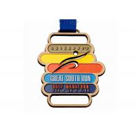 China Customized Medal Sports Trophies Medal Awards Metal Copper Football Medal With Ribbon wholesale