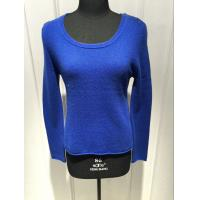 China Royal Blue Cashmere Sweater For Ladies , Cashmere Pullover Sweater 2/28nm Yarn Count wholesale