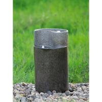 Cylinder Shaped Cast Stone Garden Fountains / Large Outdoor Fountains