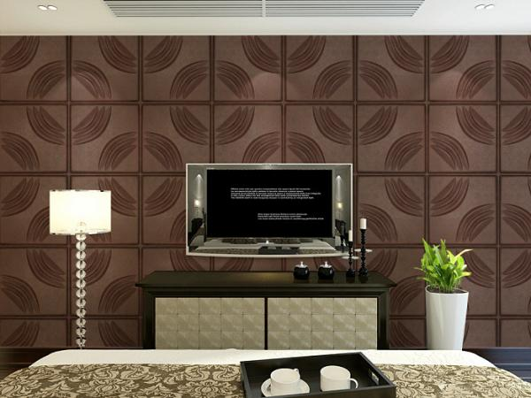 Home Decoration Leather Wall Tiles Modern 3D Wall Panels Customized