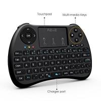 China Colorful Backlit H9 Mini Wireless Keyboard And Mouse With Touchpad / TV Box / PC on sale