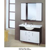 Brass handles Ceramic Bathroom Vanity solid wood 120 X 48 X 85 / cm