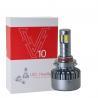 China 3000K H8 / H9 / H11 Car LED Headlights V10 DC 12 - 24V 120W High Power wholesale