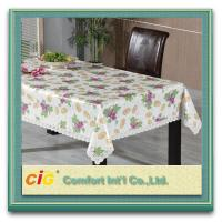 China Custom Printed Popular Modern PVC Table Cloths with Non-woven Fabric Backing wholesale