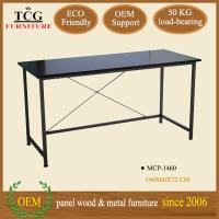China modern designed iron frame computer desk for two computers wholesale