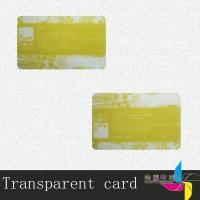 China Colorful Print Magnetic Stripe Transparent PVC Card With Bar Code Advertising wholesale