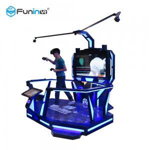 China 0.9KW Virtual Reality Simulators 9D Cinema 360 Degree View 12 Months Warranty wholesale