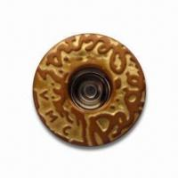 China Jeans Button, Made of Brass, Suitable for Various Apparel wholesale