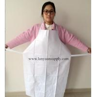 China White PVC Cooking Kitchen Apron with Welding Ties/Kitchen Apron/Cooking Apron/PVC Apron wholesale