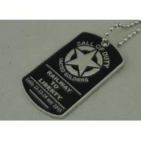 China Military Die Casting Zinc Alloy Metal Pet Tag Dog Id Tags Nickel Plating on sale
