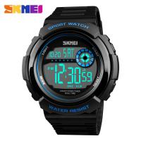China Multifunction Men Sports Wrist Watch Skmei Digital Chronograph Clock Outdoor Waterproof Military Electronic  led light w wholesale