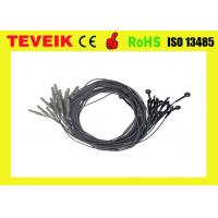 China Black Color EEG Medical Cable DIN1.5 Socket Silver Chloride Plated TPU Material wholesale