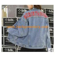 China wholesale woman denim jackets and coats wholesale