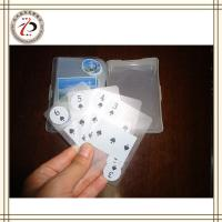 China CUSTOM TRANSPARENT PLAYING CARDS on sale