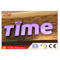 China Custom Led Edge Back Lit Stainless Steel Channel Letters For Mini Signage on sale