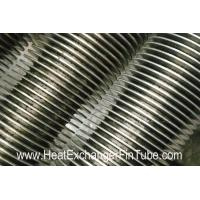 China SS409/SS410 spiral finned tube , Heat Exchanger solid & serrated  fin Tubular wholesale