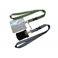 China Silk Screen Printing Lanyard, Luggage Belt Lanyard With Reflection Band, Mobile Strap And Id Holder on sale