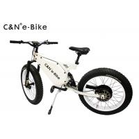 China High Speed Electric Fat Tire Mountain Bike , Electric Bicycle With Big Fat Tires wholesale