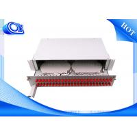 China PP - FC 48 Port Optical Fiber Patch Panel Fixed & Sliding Type For FTTH wholesale
