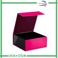 China Cardboard / Art Paper Magnetic Closure Gift Box , Foldable Magnetic Paper Box wholesale
